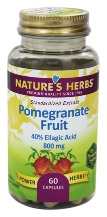DROPPED: Nature's Herbs - Pomegranate Fruit Extract - 60 Capsules