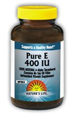 DROPPED: Nature's Life - Pure E 400 IU - 100 Softgels
