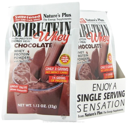 DROPPED: Nature's Plus - Spiru-Tein Whey Sweetened for Low-Carb Diets Chocolate - 1 Packet(s)