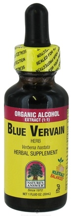 DROPPED: Nature's Answer - Blue Vervain Organic Alcohol - 1 oz. CLEARANCE PRICED