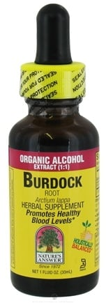 DROPPED: Nature's Answer - Burdock Root Organic Alcohol - 1 oz. CLEARANCE PRICED