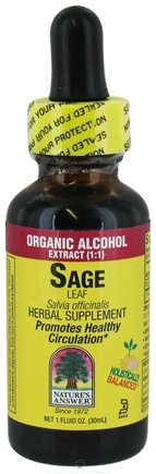 DROPPED: Nature's Answer - Sage Leaf Organic Alcohol - 1 oz. CLEARANCE PRICED