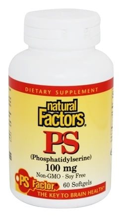 Natural Factors - PS (Phosphatidylserine) 100 mg. - 60 Softgels