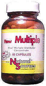 DROPPED: Natural Sources - Raw Multiple - 60 Tablets