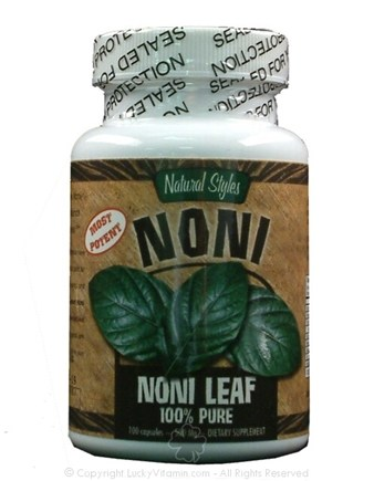 DROPPED: Natural Styles - Noni Leaf 100% Pure 500 mg. - 100 Capsules