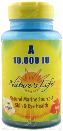 DROPPED: Nature's Life - Vitamin A 10000 IU - 100 Softgels CLEARANCE PRICED