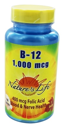 DROPPED: Nature's Life - Vitamin B12 1000 mcg. - 100 Tablets