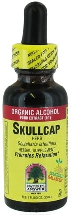 DROPPED: Nature's Answer - Skullcap Herb Organic Alcohol - 1 oz. CLEARANCE PRICED