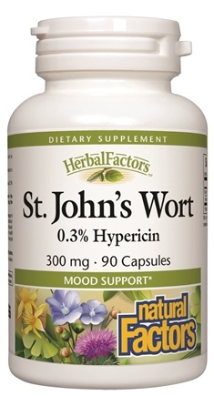 DROPPED: Natural Factors - Saint John's Wort Extract with Hypericin 300 mg. - 90 Capsules CLEARANCE PRICED