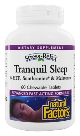 Natural Factors - Stress-Relax Tranquil Sleep - 60 Chewable Tablets