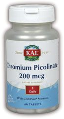DROPPED: Kal - Chromium Picolinate 200 mcg. - 100 Tablets