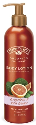 DROPPED: Nature's Gate - Lotion Organics Fruit Blend Grapefruit & Wild Ginger - 12 oz. CLEARANCE PRICED