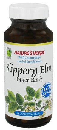 DROPPED: Nature's Herbs - Wild Countryside Slippery Elm Inner Bark - 100 Capsules CLEARANCE PRICED