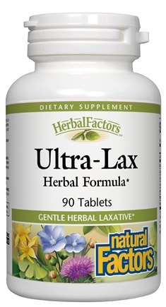 DROPPED: Natural Factors - Ultra-Lax Herbal Laxative - 90 Tablets