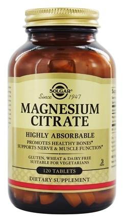 Solgar - Magnesium Citrate - 120 Tablets