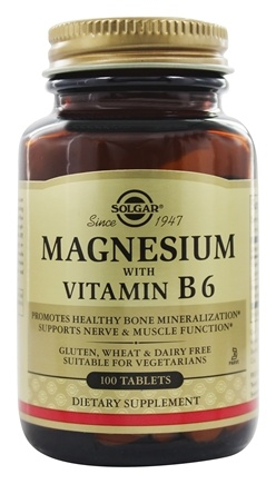 Solgar - Magnesium With Vitamin B6 - 100 Tablets
