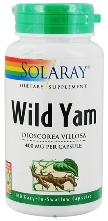 DROPPED: Solaray - Wild Yam Root 400 mg. - 100 Capsules
