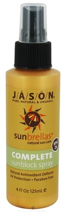 DROPPED: Jason Natural Products - Sunbrellas Complete Block Spray 26 SPF - 4 oz.
