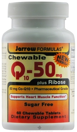 DROPPED: Jarrow Formulas - Chewable Co Q10 Plus Ribose 50 mg. - 60 Chewable Tablets CLEARANCE PRICED