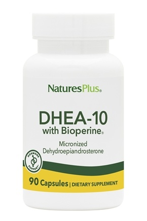 Nature's Plus - DHEA-10 with Bioperine 10 mg. - 90 Vegetarian Capsules