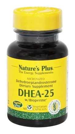 Nature's Plus - DHEA-25 with Bioperine 25 mg. - 60 Vegetarian Capsules