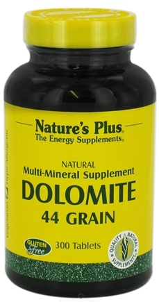 DROPPED: Nature's Plus - Dolomite 44 Grain - 300 Tablets CLEARANCE PRICED