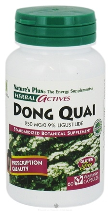 DROPPED: Nature's Plus - Herbal Actives Dong Quai 250 mg. - 60 Vegetarian Capsules CLEARANCE PRICED