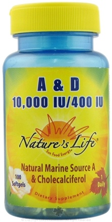 DROPPED: Nature's Life - A 10 000 IU / D 400 IU CLEARANCE PRICED - 100 Capsules