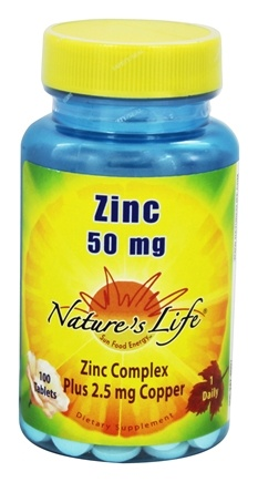 DROPPED: Nature's Life - Zinc 50 mg. - 100 Tablets