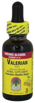 DROPPED: Nature's Answer - Valerian Root Organic Alcohol - 1 oz. CLEARANCE PRICED
