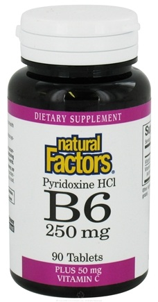 DROPPED: Natural Factors - Vitamin B6 Pyridoxine HCl 250 mg. - 90 Tablets
