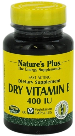 DROPPED: Nature's Plus - Dry Vitamin E 400 IU - 60 Vegetarian Capsules