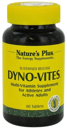 DROPPED: Nature's Plus - Dyno Vites Sustained Release - 60 Tablets
