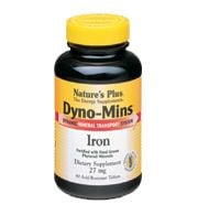 DROPPED: Nature's Plus - Dyno-Mins Iron 27 mg. - 90 Tablets