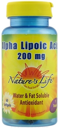 DROPPED: Nature's Life - Alpha Lipoic Acid 200 mg. - 60 Softgels