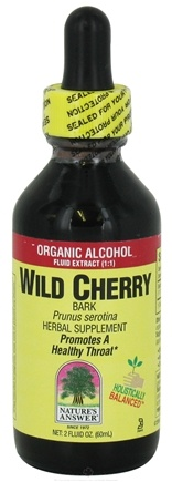 DROPPED: Nature's Answer - Wild Cherry Bark Organic Alcohol - 2 oz. CLEARANCE PRICED