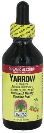DROPPED: Nature's Answer - Yarrow Flowers Organic Alcohol - 2 oz. CLEARANCE PRICED