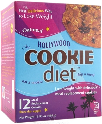 DROPPED: Hollywood Diet - Hollywood Cookie Diet - 12 Cookies Oatmeal Flavor - CLEARANCE PRICED