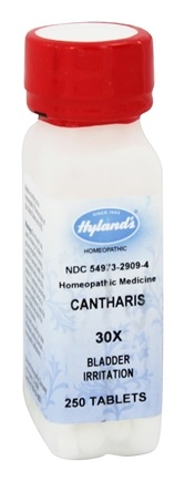 Hylands - Cantharis 30 X - 250 Tablets