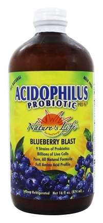 DROPPED: Nature's Life - Acidophilus Probiotic Pro-96 Blueberry Blast - 16 oz. Formerly Blueberry Pro 96