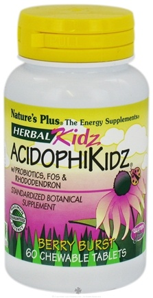 DROPPED: Nature's Plus - Herbal Kidz Acidophikidz - 60 Chewable Tablets
