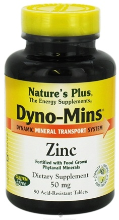 DROPPED: Nature's Plus - Dyno-Mins Zinc 50 mg. - 90 Tablets CLEARANCE PRICED