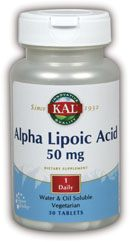 DROPPED: Kal - Alpha Lipoic Acid 50 mg. - 30 Tablets