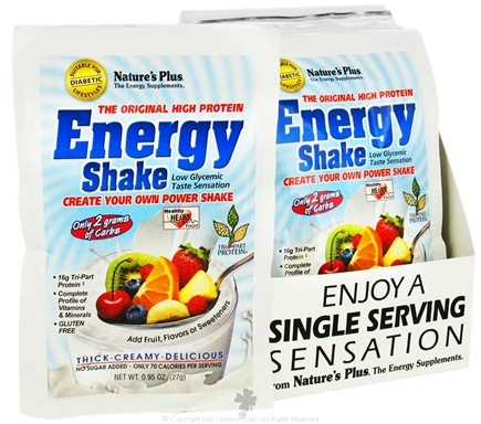 DROPPED: Nature's Plus - Energy Protein Shake Single Serving - 1 Packet CLEARANCE PRICED