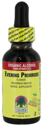 DROPPED: Nature's Answer - Evening Primrose Flower Organic Alcohol - 1 oz. CLEARANCE PRICED