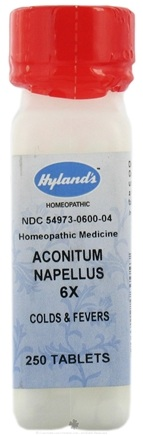 DROPPED: Hylands - Aconitum Napellus 6 X - 250 Tablets CLEARANCE PRICED