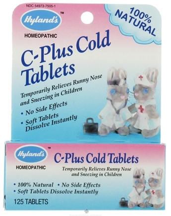 DROPPED: Hylands - C-Plus Cold Tablets - 125 Tablets CLEARANCE PRICED