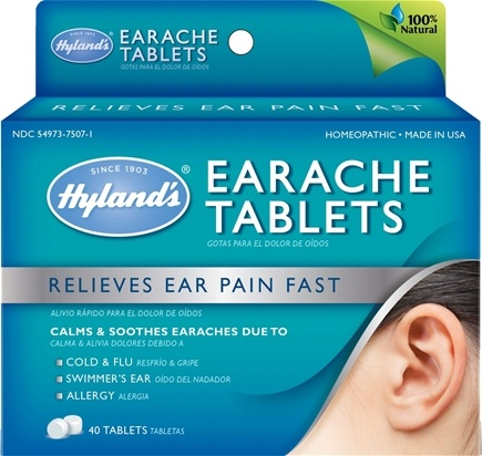 DROPPED: Hylands - Earache - 40 Tablets