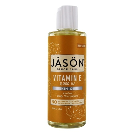 JASON Natural Products - Vitamin E Oil 5000 IU - 4 oz.