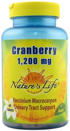 DROPPED: Nature's Life - Cranberry 1200 mg. - 60 Tablets CLEARANCE PRICED